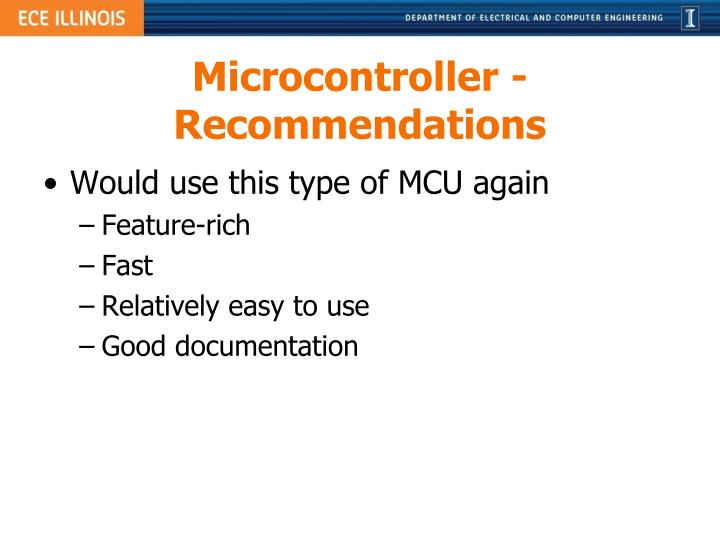 Microcontroller - Recommendations