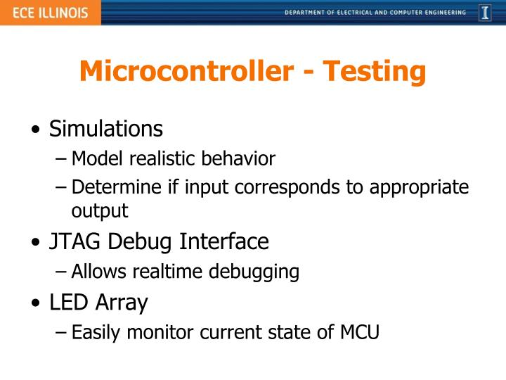 Microcontroller - Testing