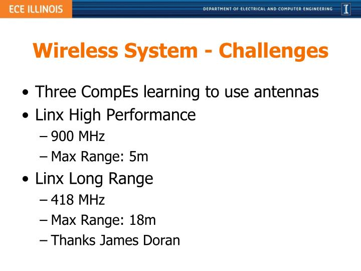 Wireless System - Challenges