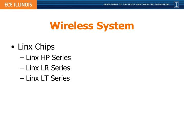 Wireless System