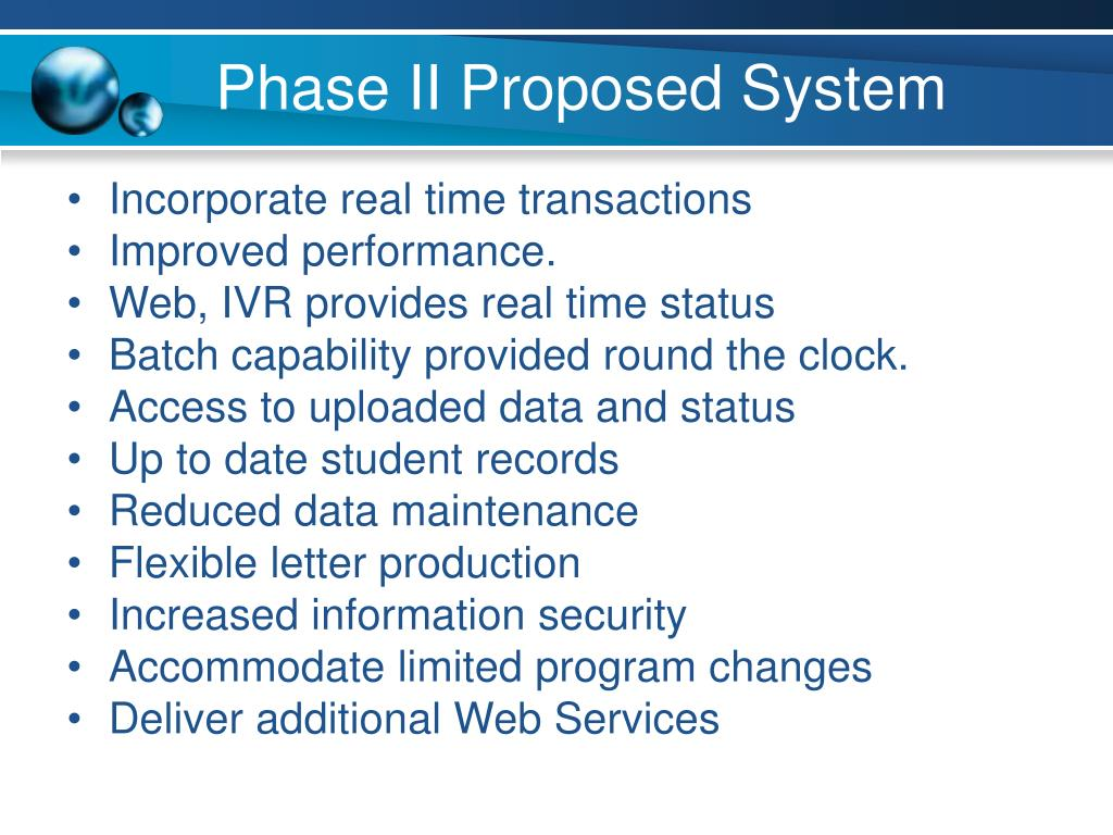 Phase II Proposed System