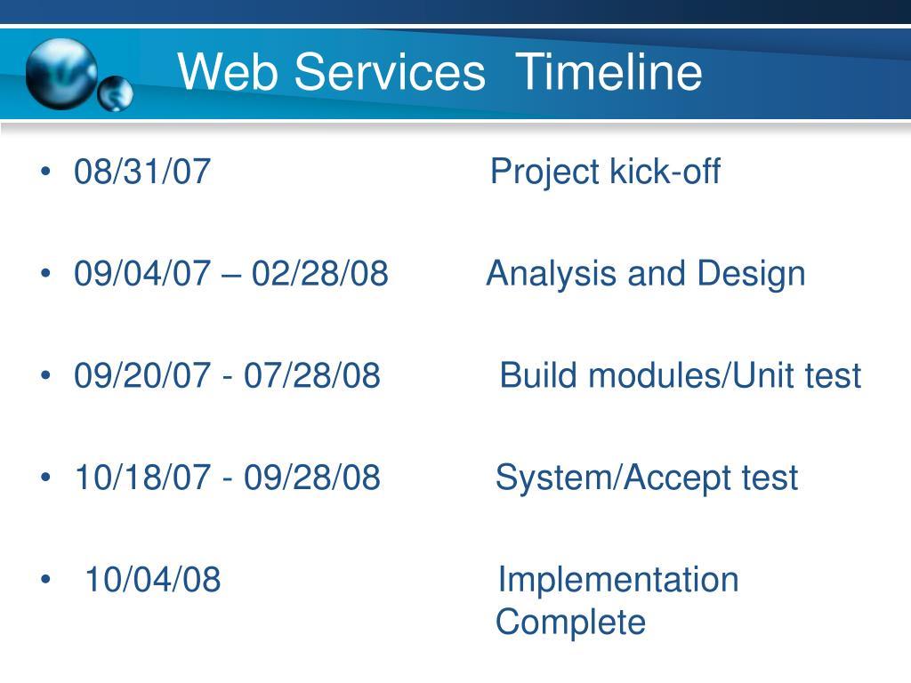 Web Services  Timeline