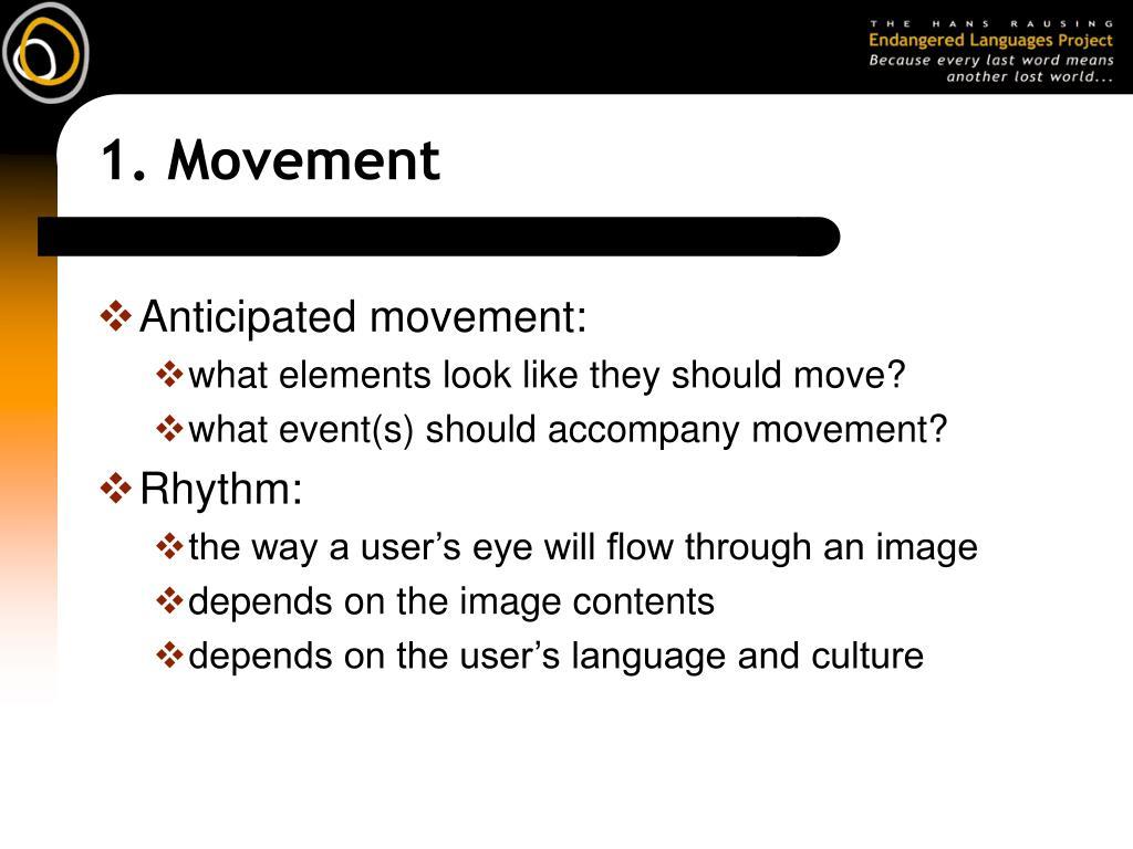 1. Movement