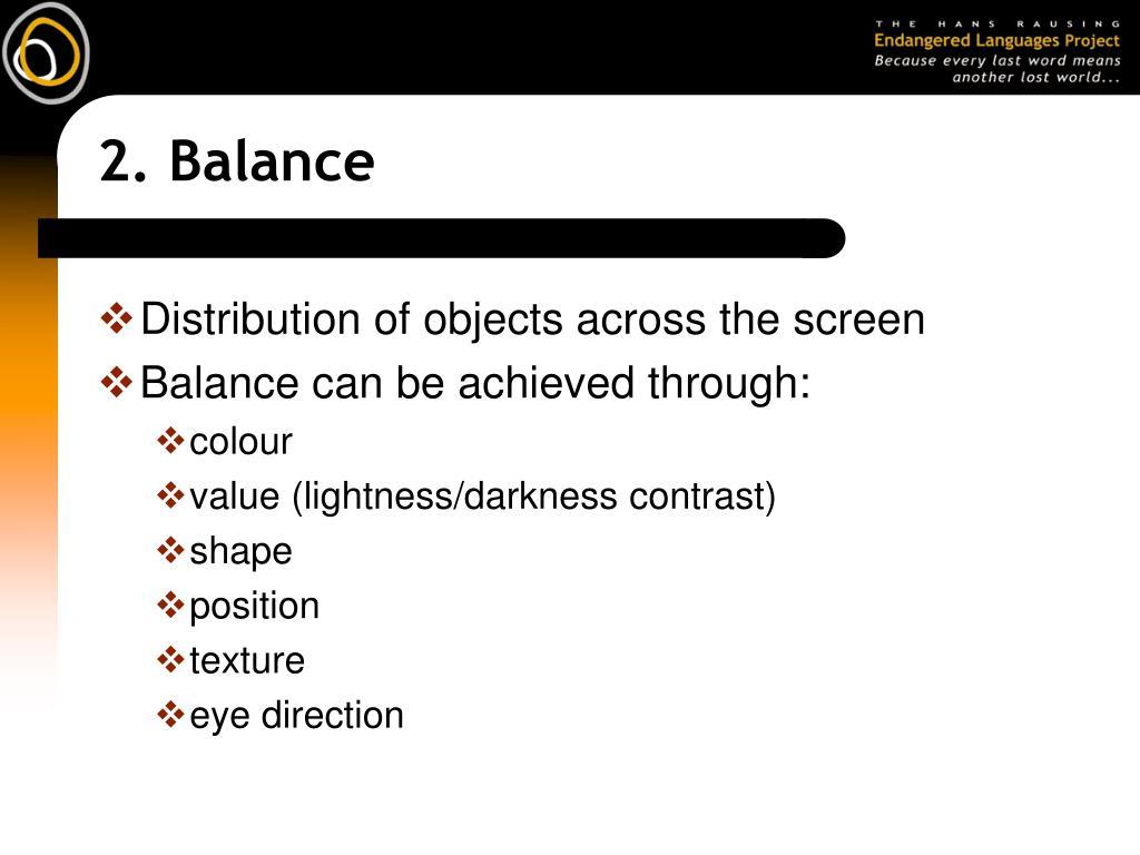 2. Balance