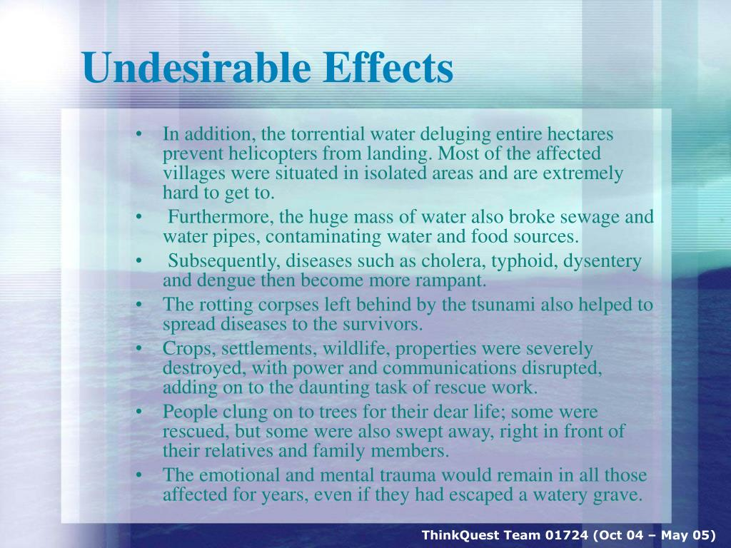 Undesirable Effects