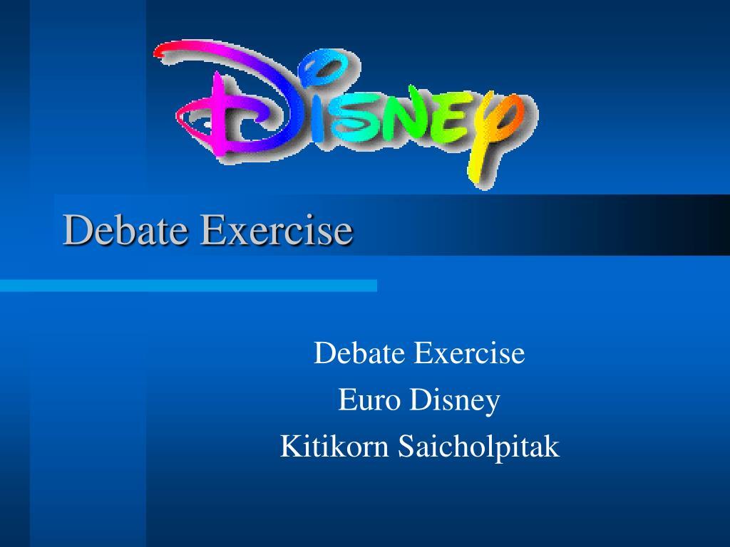 Debate Exercise