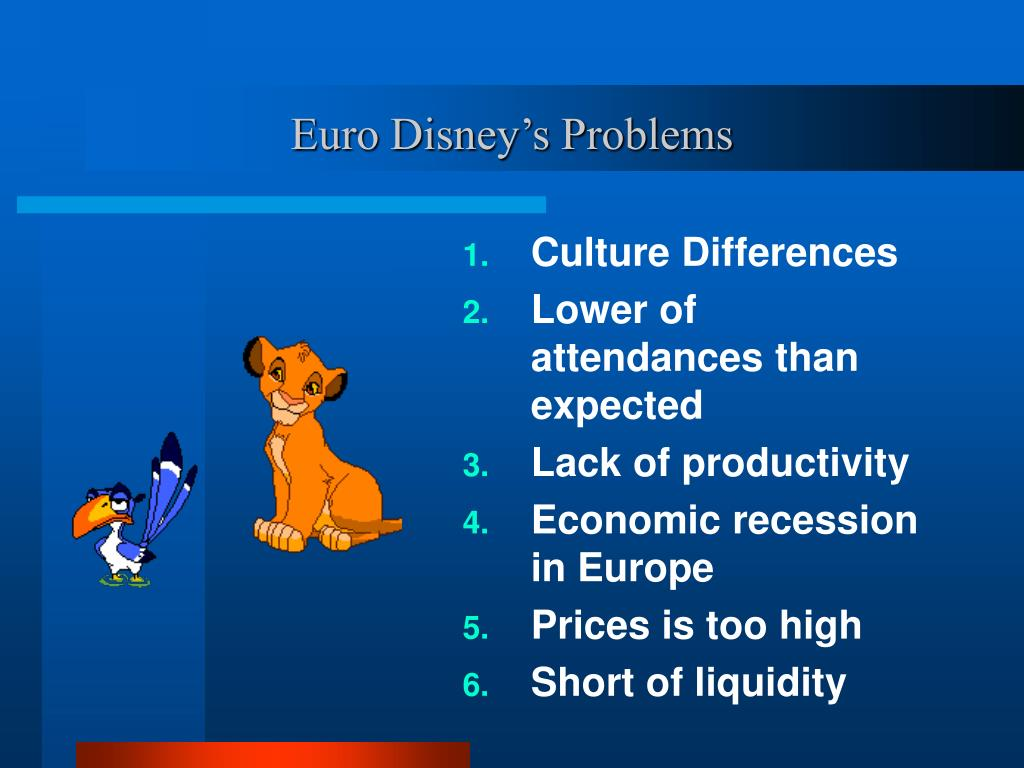 Euro Disney's Problems