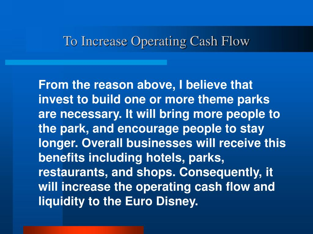 To Increase Operating Cash Flow