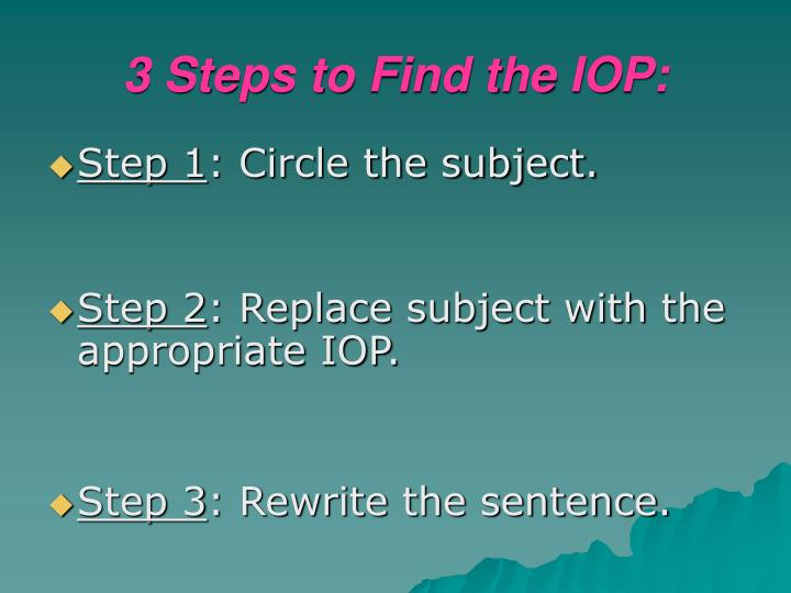 3 Steps to Find the IOP: