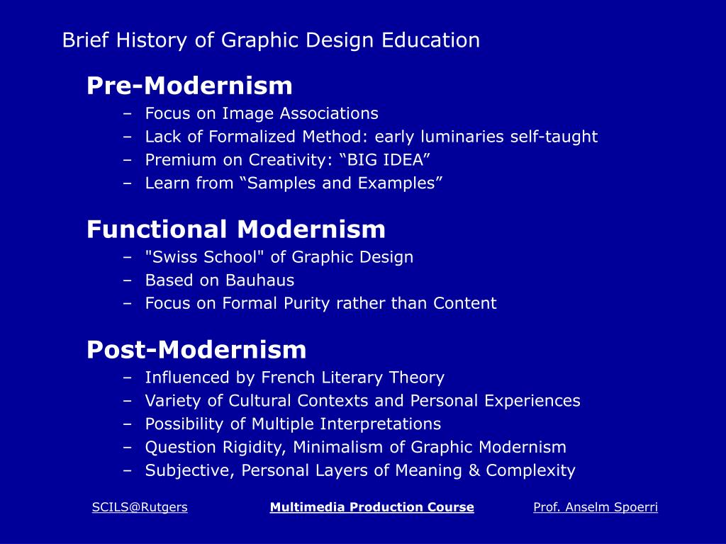 Brief History of Graphic Design Education