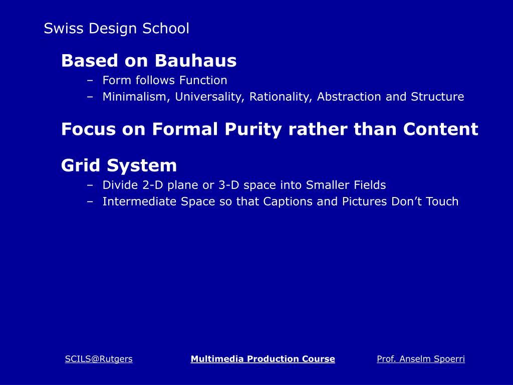Swiss Design School