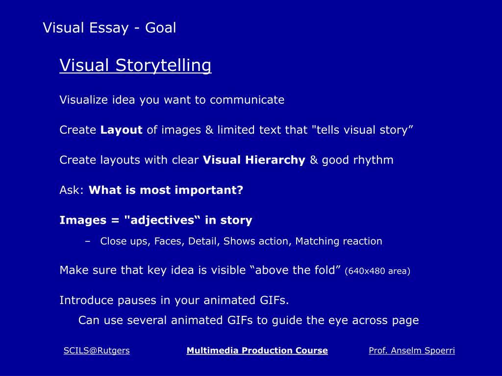 Visual Essay - Goal