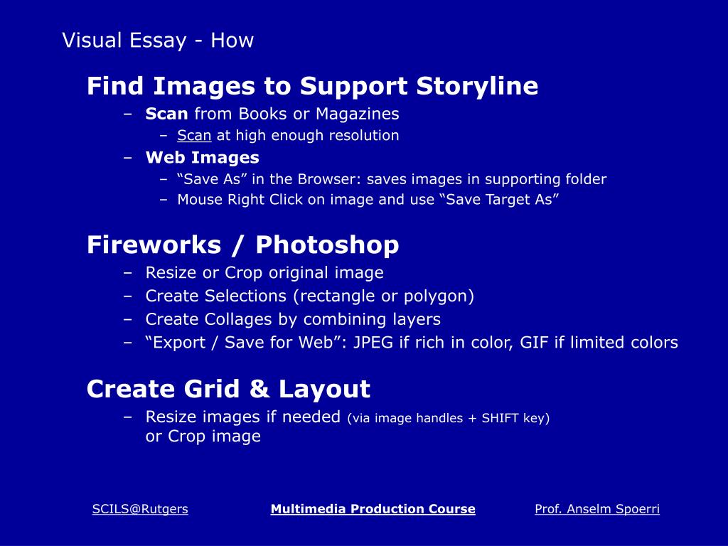 Visual Essay - How