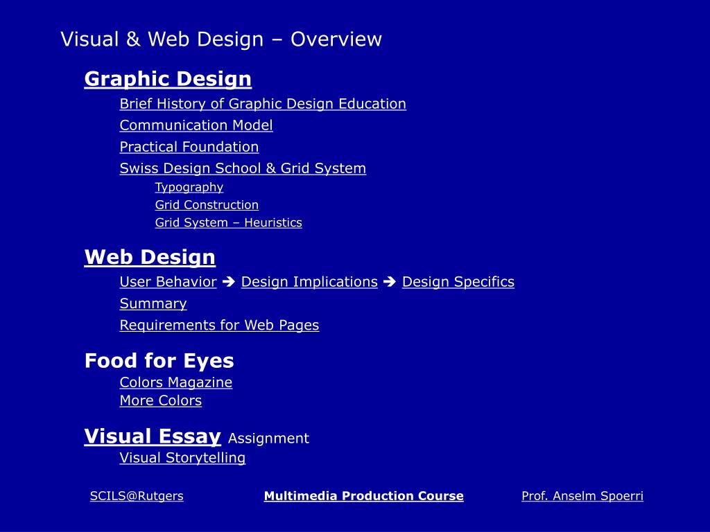 Visual & Web Design – Overview
