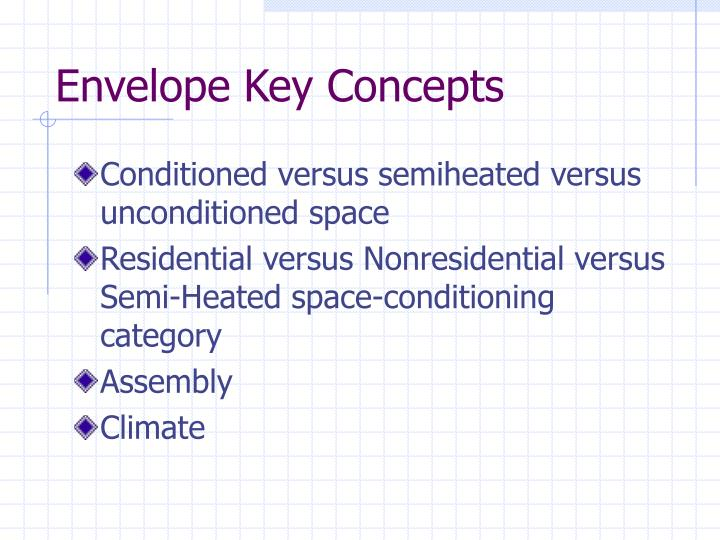 Envelope Key Concepts