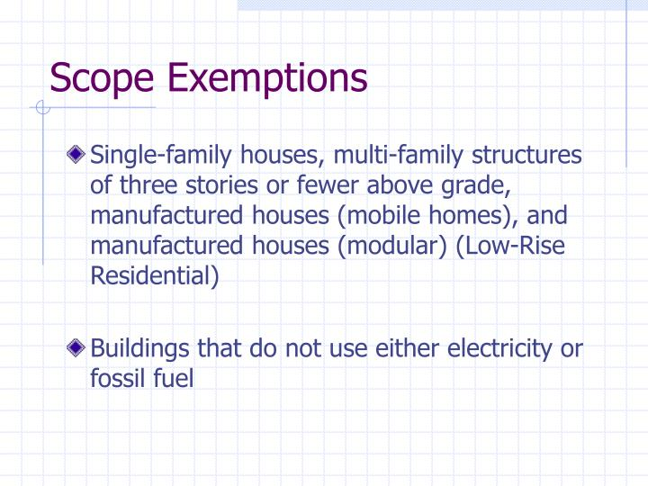 Scope Exemptions