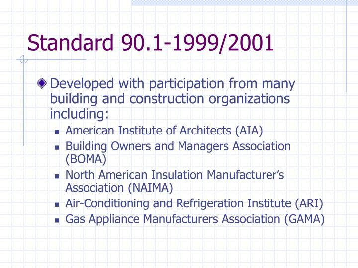 Standard 90.1-1999/2001