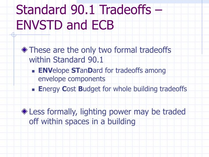 Standard 90.1 Tradeoffs –