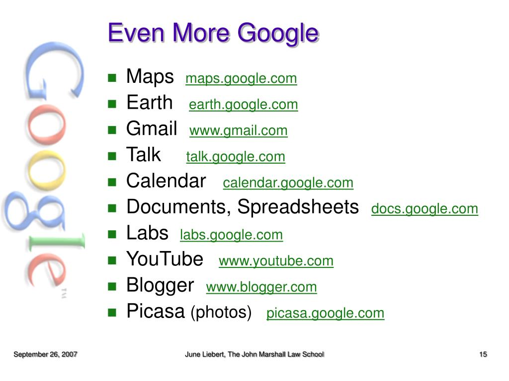 Even More Google