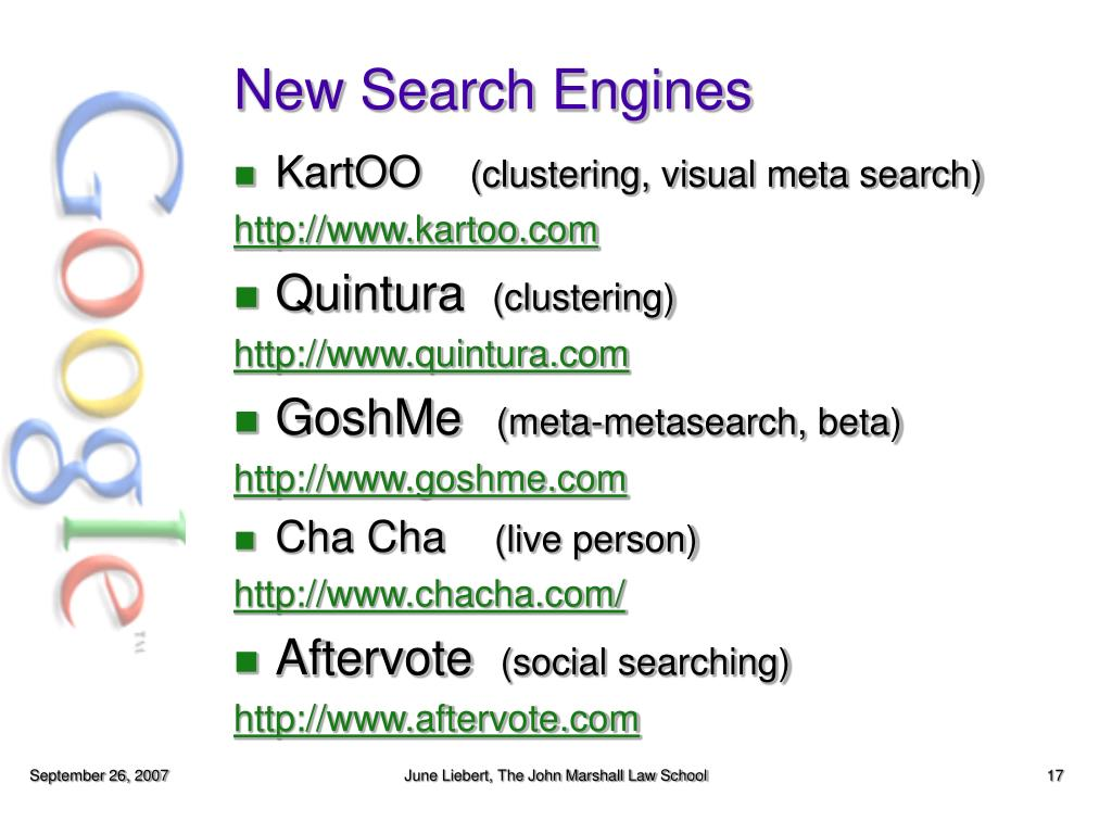 New Search Engines