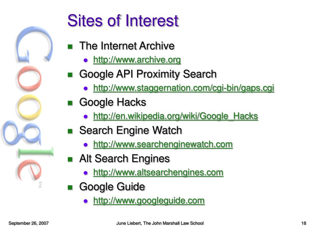 Sites of Interest