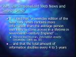 why use personalized web news and search sites