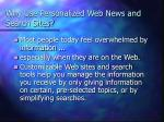 why use personalized web news and search sites3