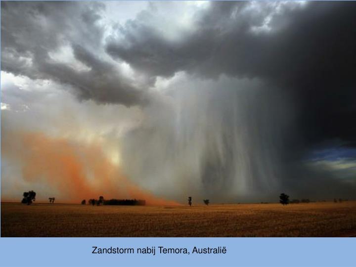 Zandstorm nabij Temora, Australië