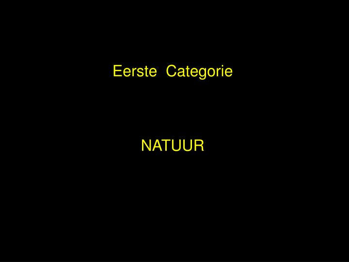 Eerste  Categorie