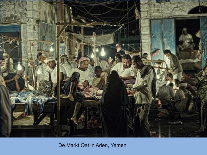 De Markt Qat in Aden, Yemen
