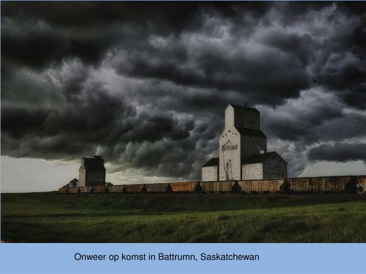 Onweer op komst in Battrumn, Saskatchewan