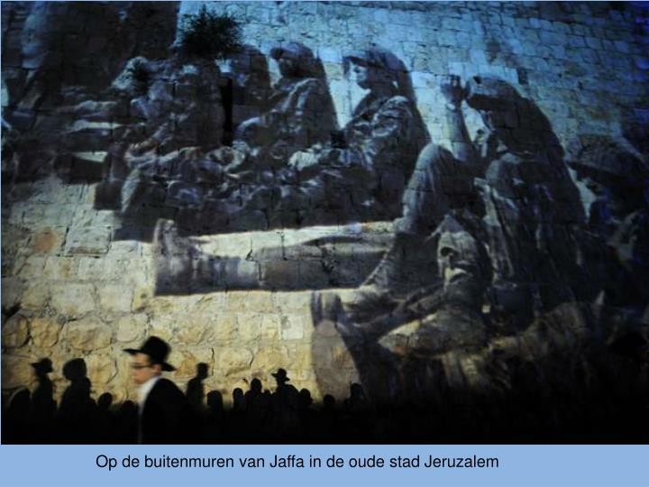 Op de buitenmuren van Jaffa in de oude stad Jeruzalem