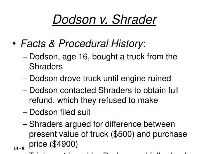 Dodson v. Shrader