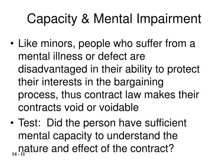 Capacity & Mental Impairment