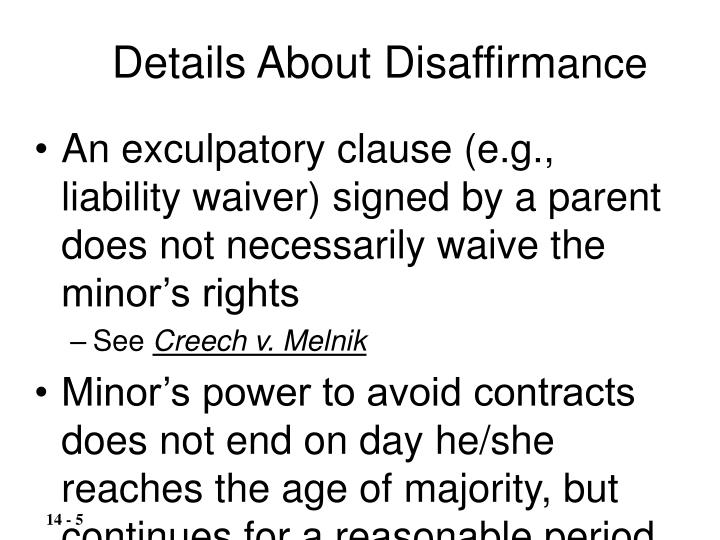 Details About Disaffirm