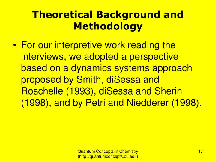 Theoretical Background and Methodology
