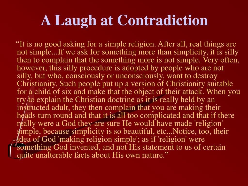 A Laugh at Contradiction