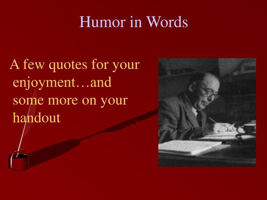 Humor in Words