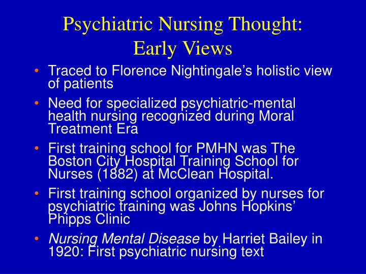 Psychiatric Nursing Thought: