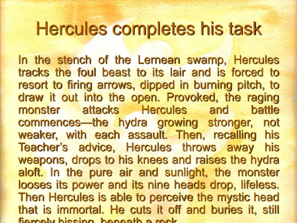 Hercules completes his task
