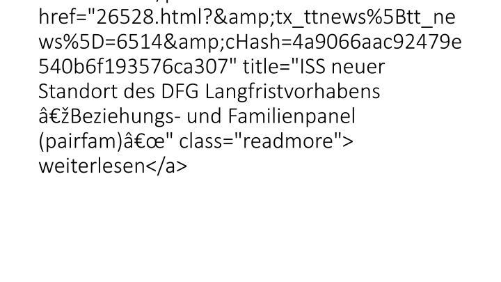 """<p class=""""bodytext"""">Mit der Bewilligung von Mitteln in Hhe von 1 Million Euro fr die Frderphase 2014-16 ist das"""