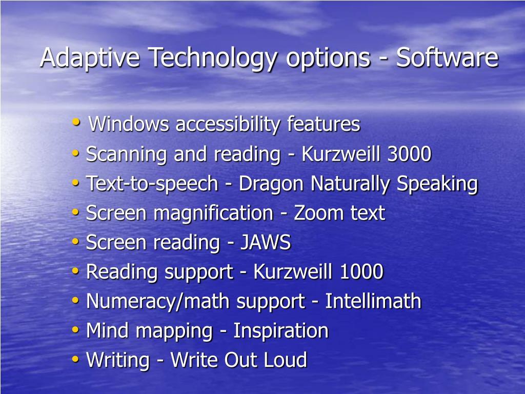 Adaptive Technology options - Software