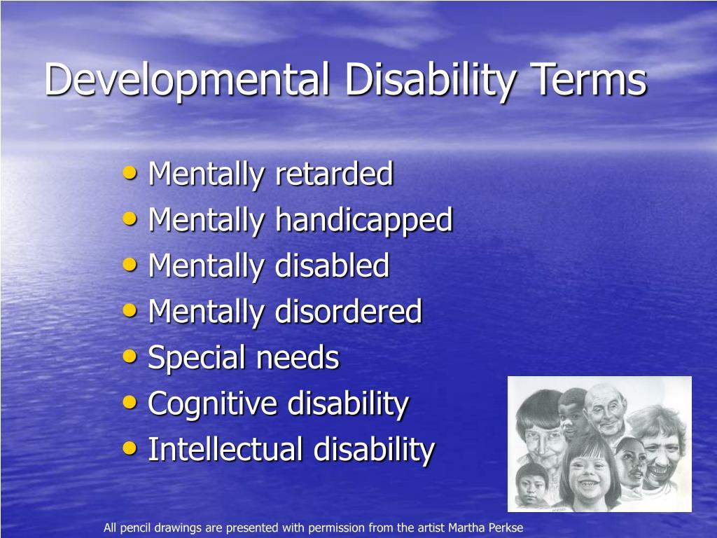 Developmental Disability Terms