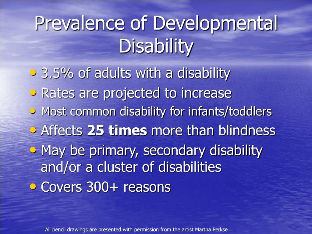Prevalence of Developmental Disability