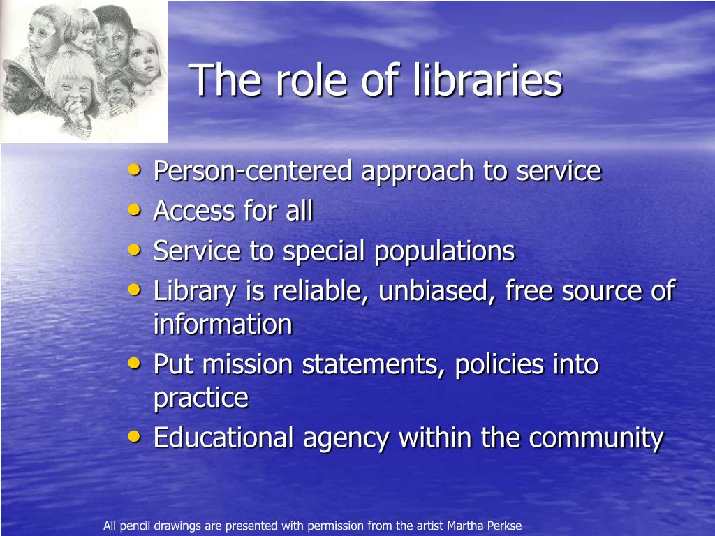 The role of libraries