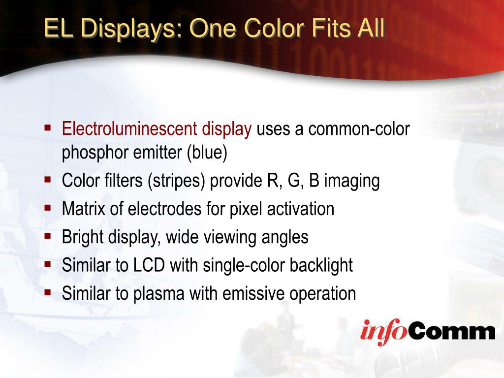 EL Displays: One Color Fits All