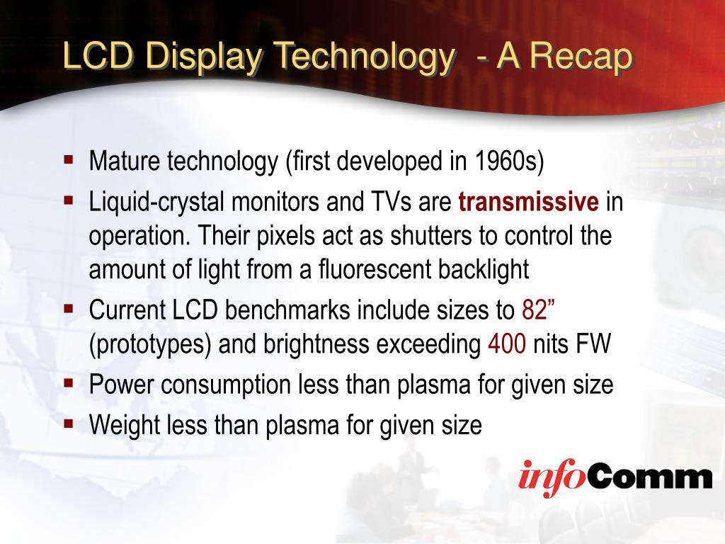 LCD Display Technology  - A Recap