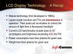 lcd display technology a recap