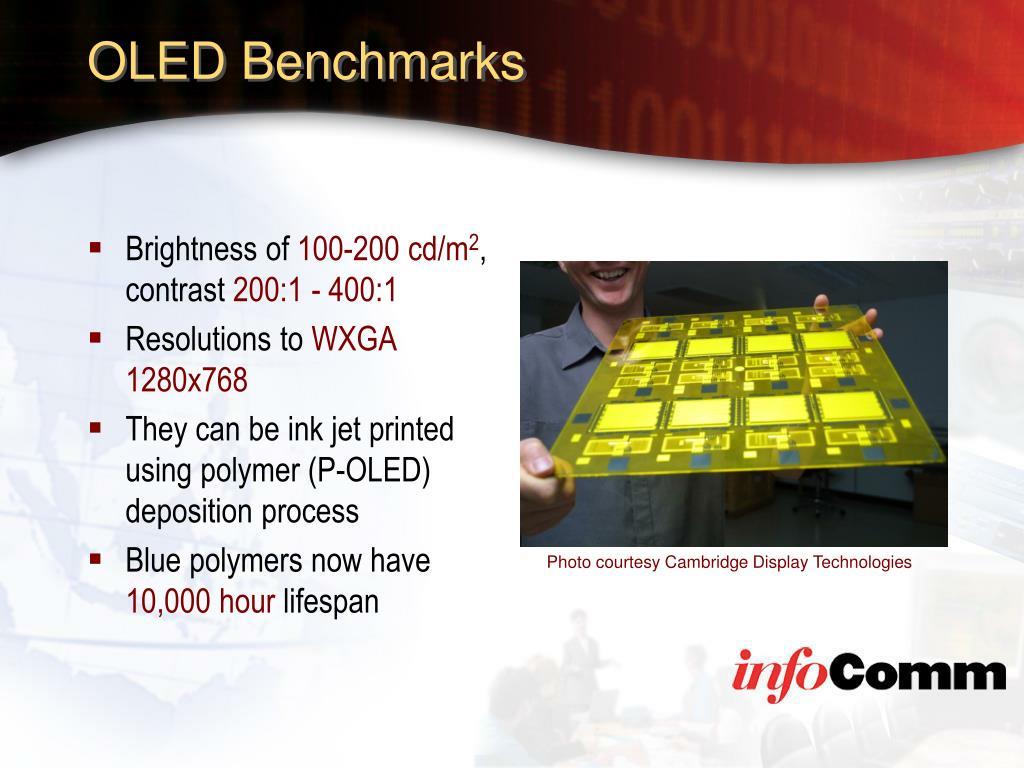 OLED Benchmarks