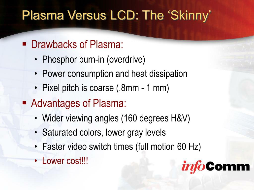 Plasma Versus LCD: The 'Skinny'